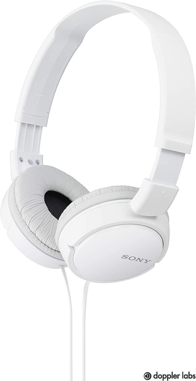 Sony ZX Series MDRZX110/WHI On-Ear Headphones