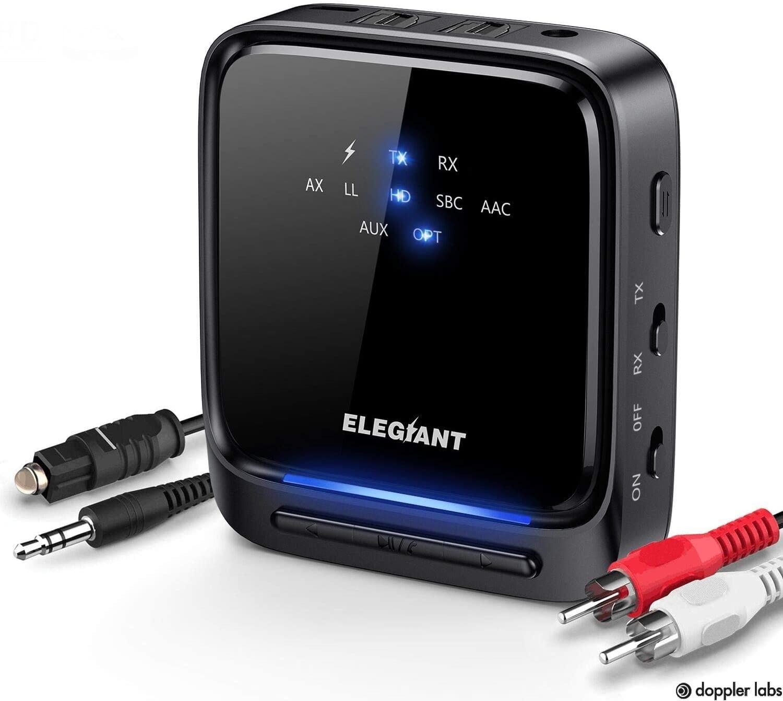 ELEGIANT Wireless Bluetooth 5.0 Transmitter and Receiver