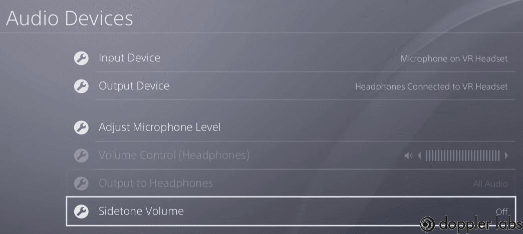 Turn on mic monitoring on PS4