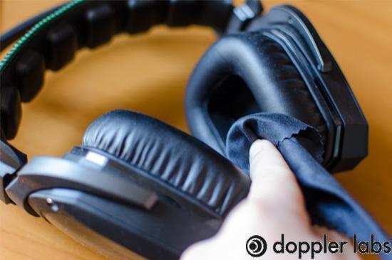 Wipe your headphones