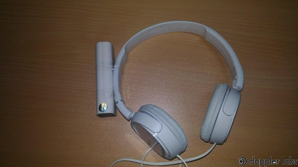Fix the power for the USB transmitter to your headphone