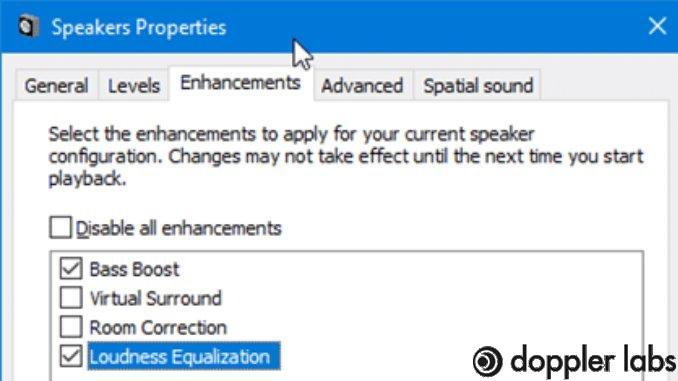 Adjust sound enhancement settings