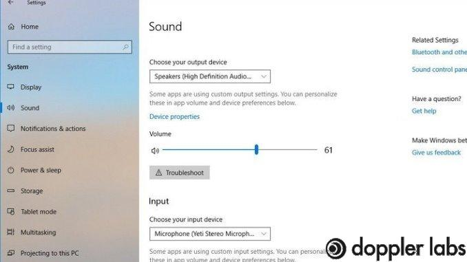 Adjust the input in sound setting