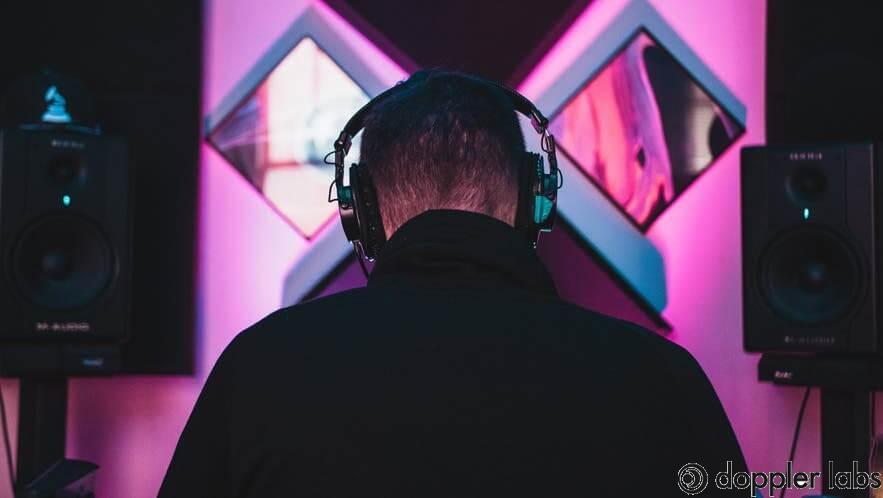 Good sound isolation with studio headphones.