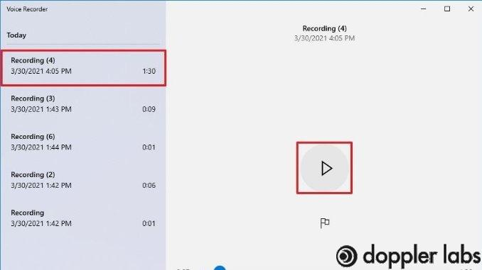 Open the recording sound function