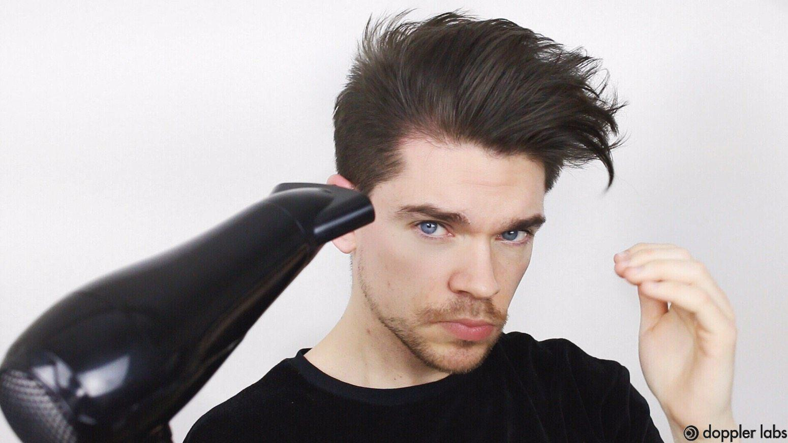 Use a dryer for your earphone hair