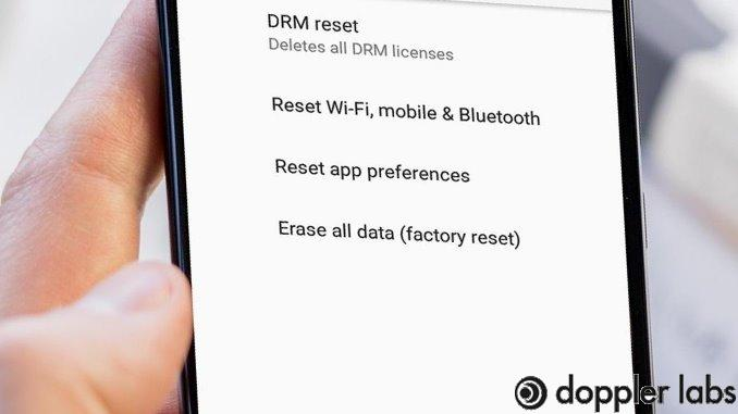 A factory reset can delete previous settings