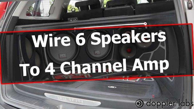 you can run 6 speakers on a four-channel amp